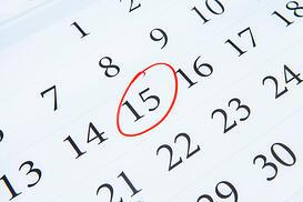 calendar 15th