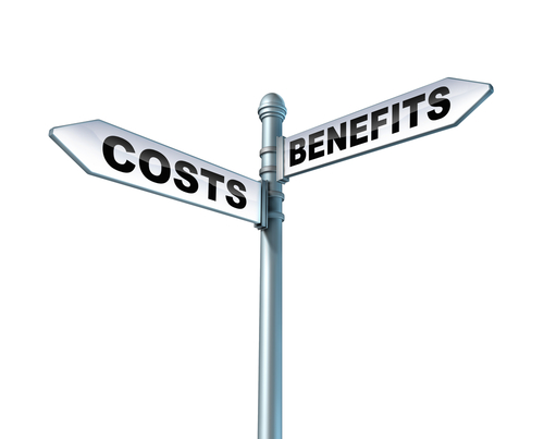 intersection of cost and benefit