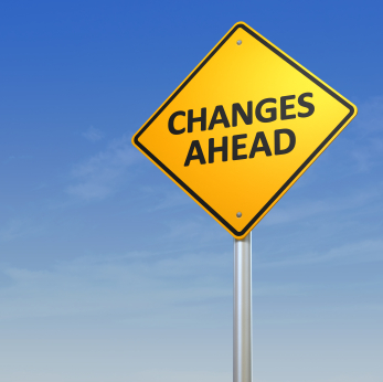 Traffic sign, changes ahead