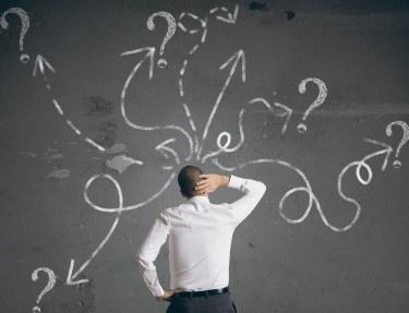questions on chalkboard