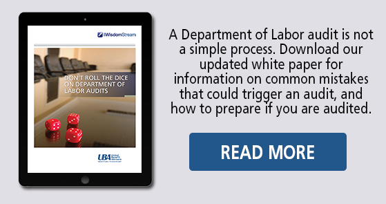 UBA Department of Labor Audit white paper