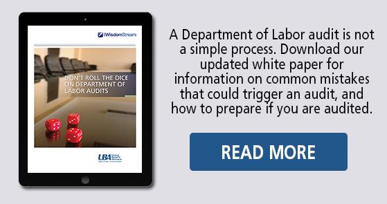UBA Department of Labor Audit white paper
