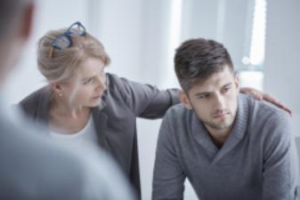 Comfort grieving employee